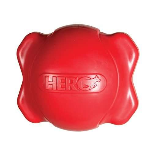Hero dog toys Dogs  Hero  Soft Rubber  Signature Series Squeaking Bone Ball Extra Large