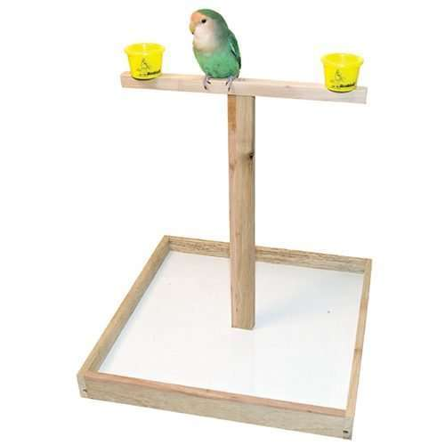 """14"""" Bird T Perch with Cups"""