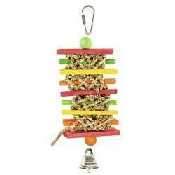 Grass Woven Slats colorful hanging bird toy, keep your bird busy with color and texture